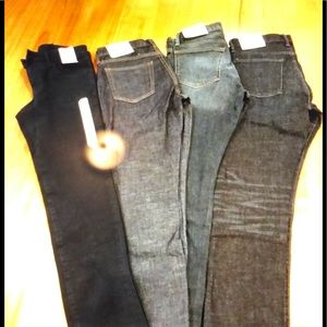 Three GAP pants and one UniGlo pants NEW w TAGS